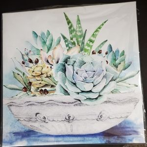 Home Decor Watercolor Painting of succulents